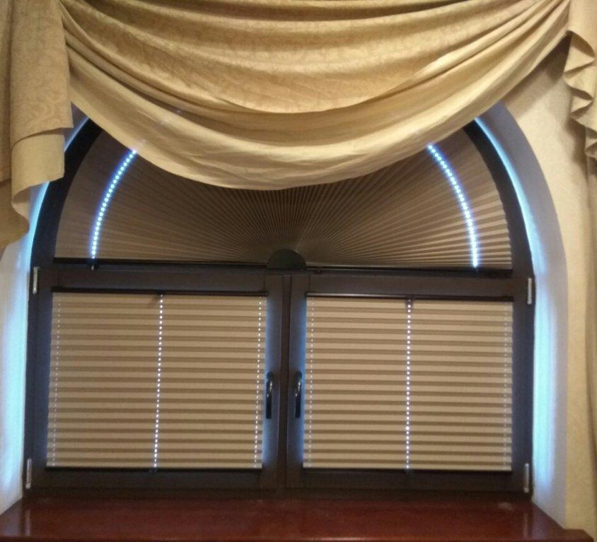 Плиссированные шторы